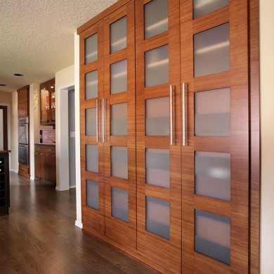Custom bamboo cabinet doors