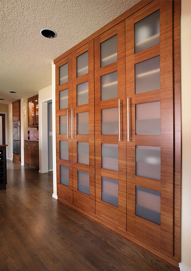 image of custom bamboo cabinet doors
