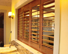 Image of Hunter Douglas Wood shutters