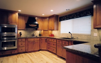 View of kitchen remodeled with cabinets removed