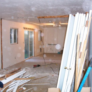 Image of a gutted room ready for remodel