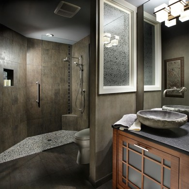 Remodeled spa shower by Patti Marvitz